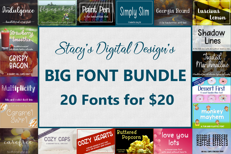 Big Font Bundle - 20 Handwritten Fonts example image 1