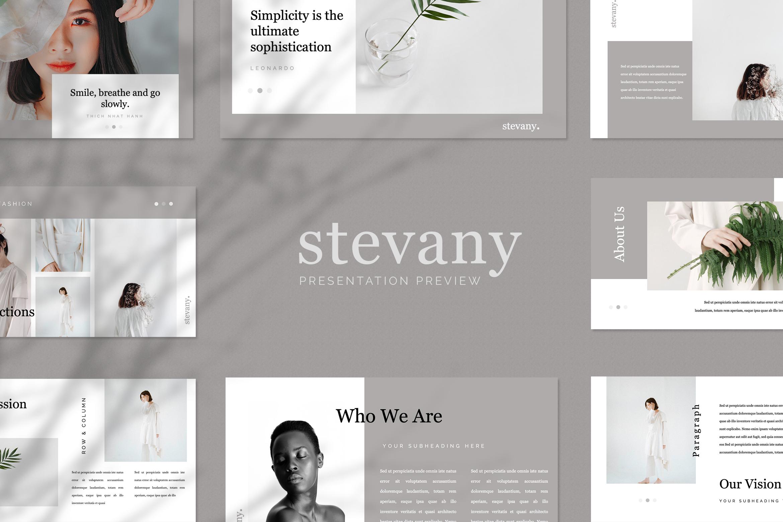 Stevany Lookbook Presentation Templates example image 1