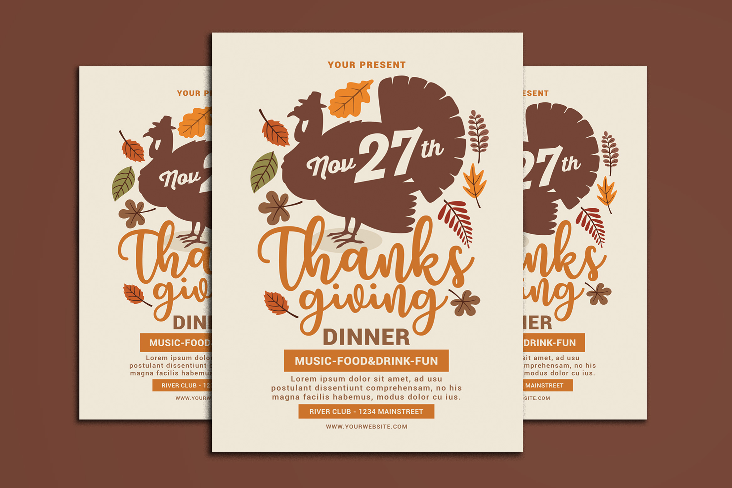 Thanksgiving Flyer example image 1