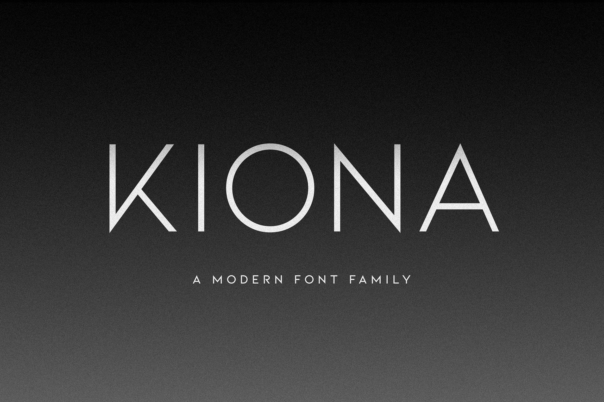 Kiona - A modern font example image 1