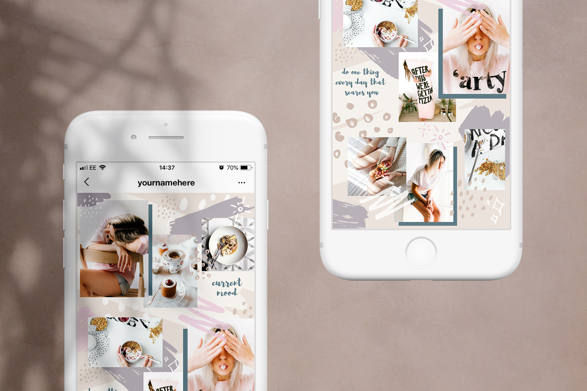 Instagram grid layout pack for Canva example image 3