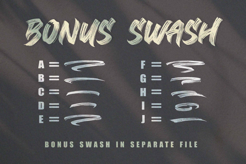 BLACK BRUNO // Brush Font example image 10