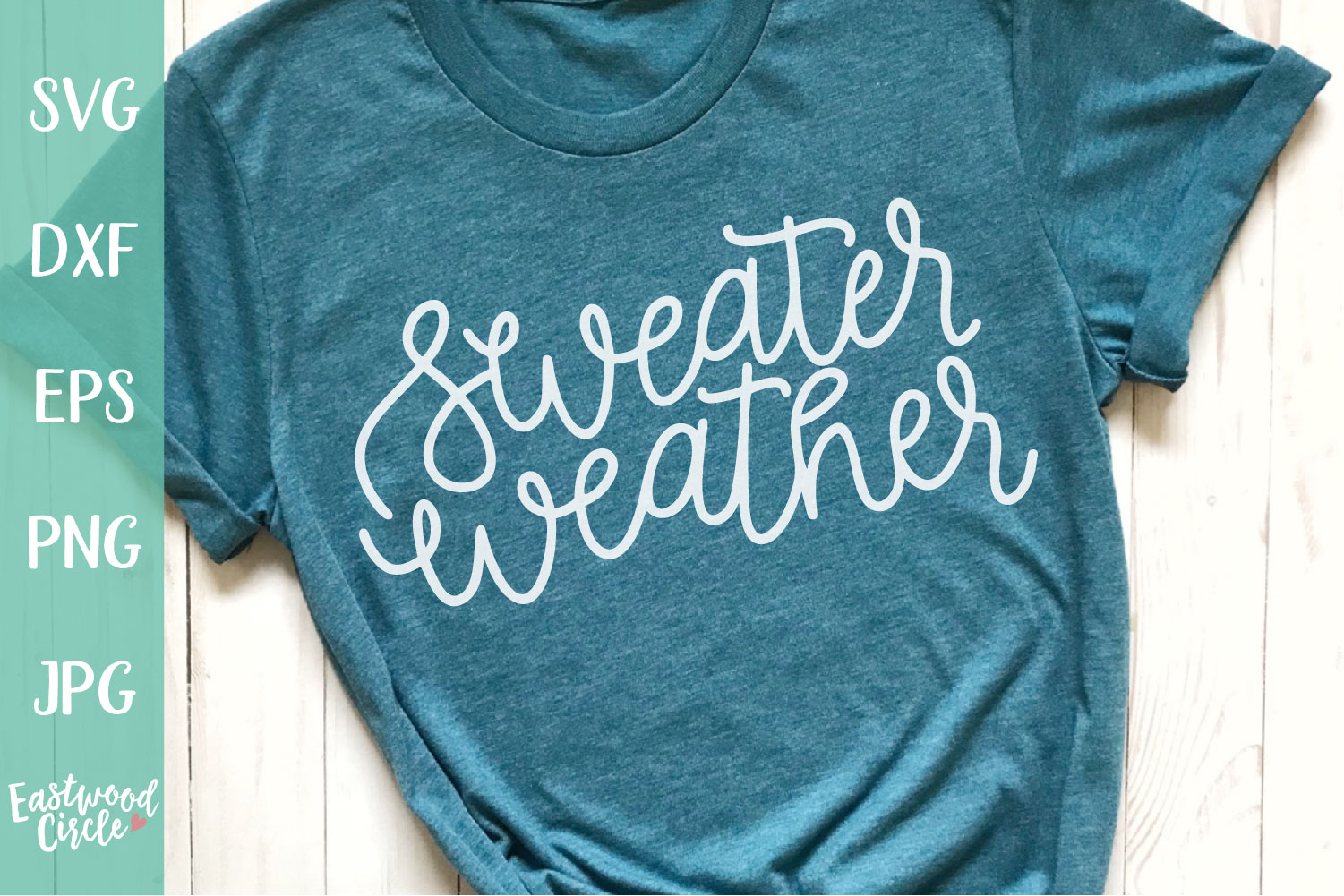 Sweater Weather - Hand Lettered Fall SVG for Crafters example image 1