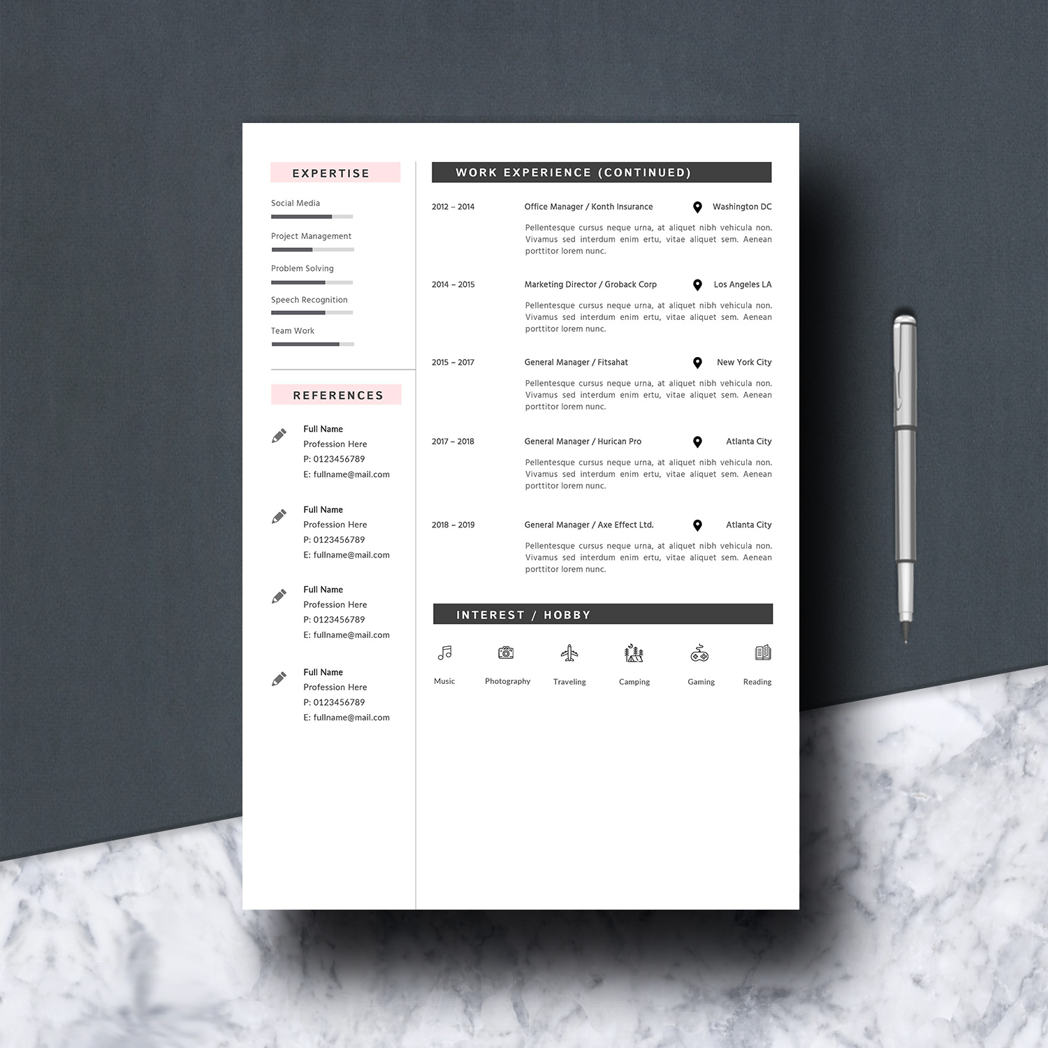 Resume Template 2 Pages example image 4