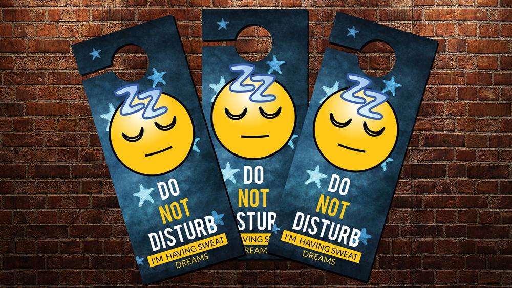 Sleeping Time Door Hangers example image 2