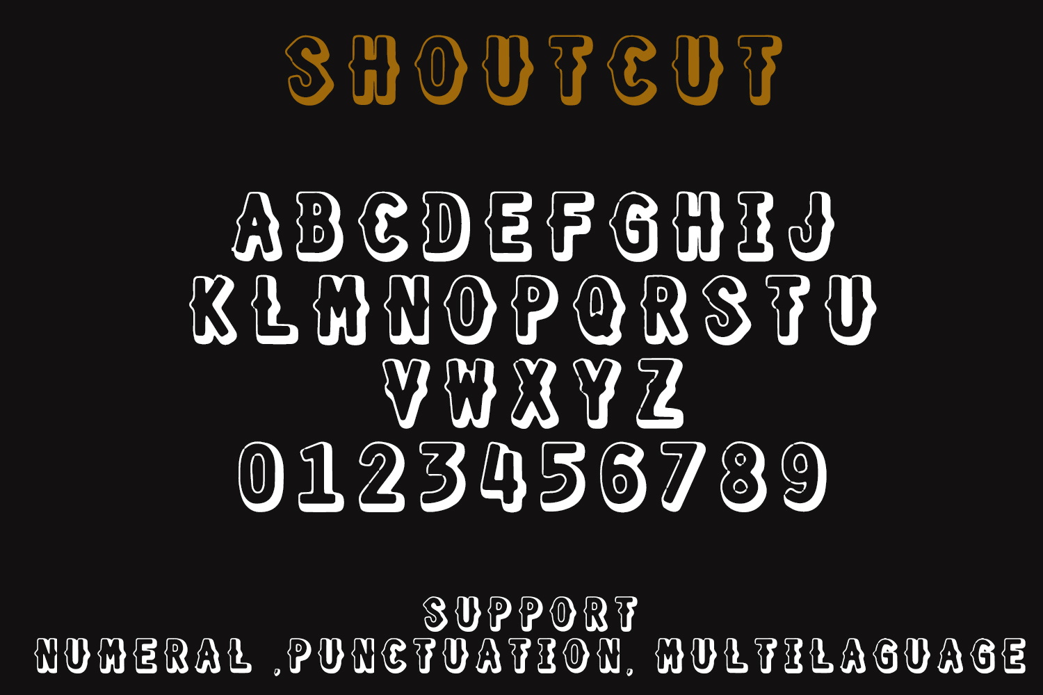 SHOURTCUT Typeface - Display Font example image 7
