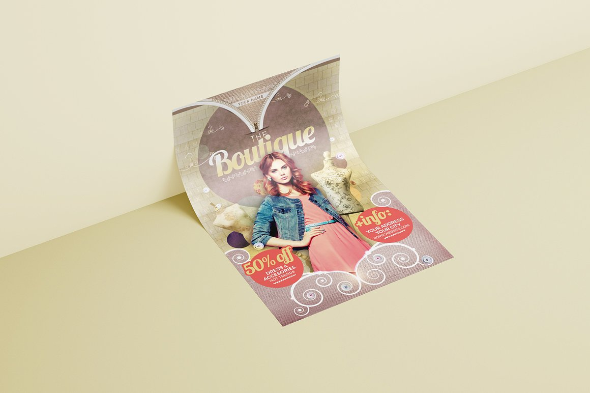 The Boutique Flyer Template example image 3
