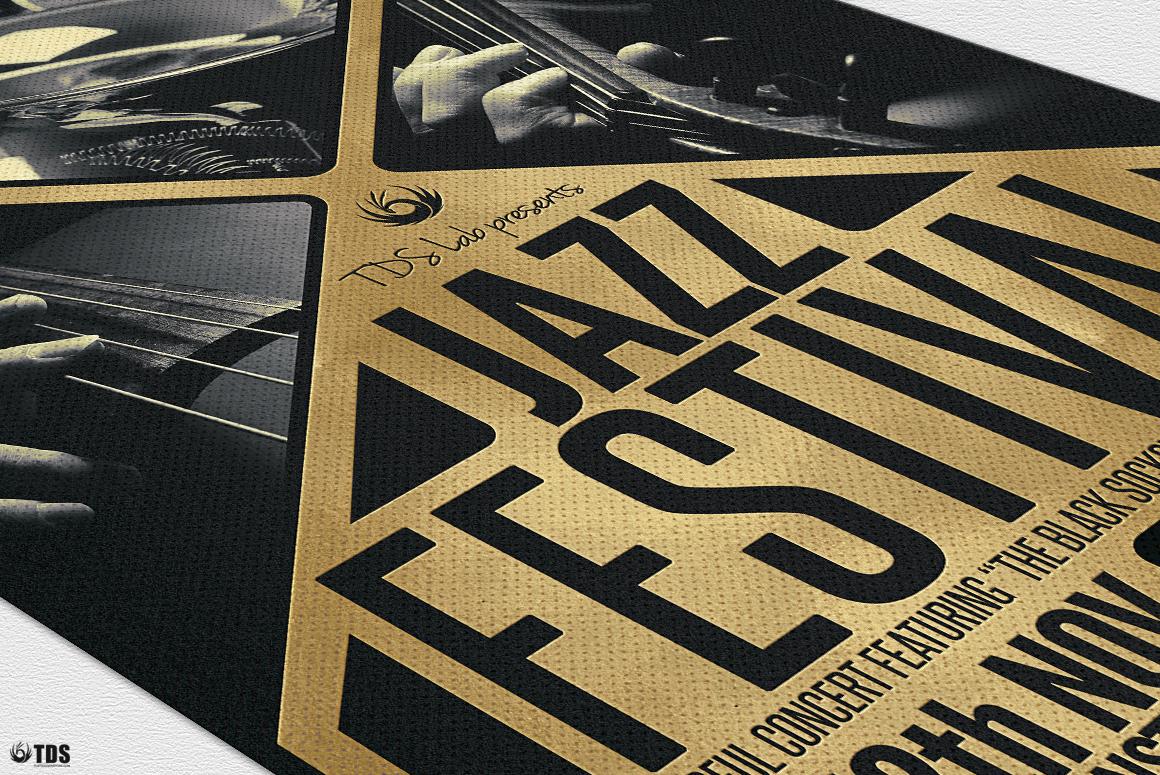 Golden Jazz Flyer Template example image 6