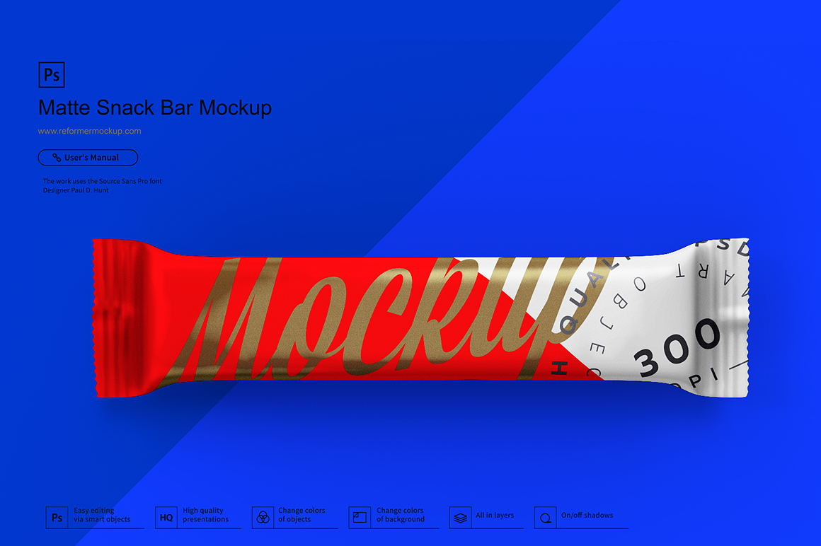 Matte Snack Bar Mockup example image 1
