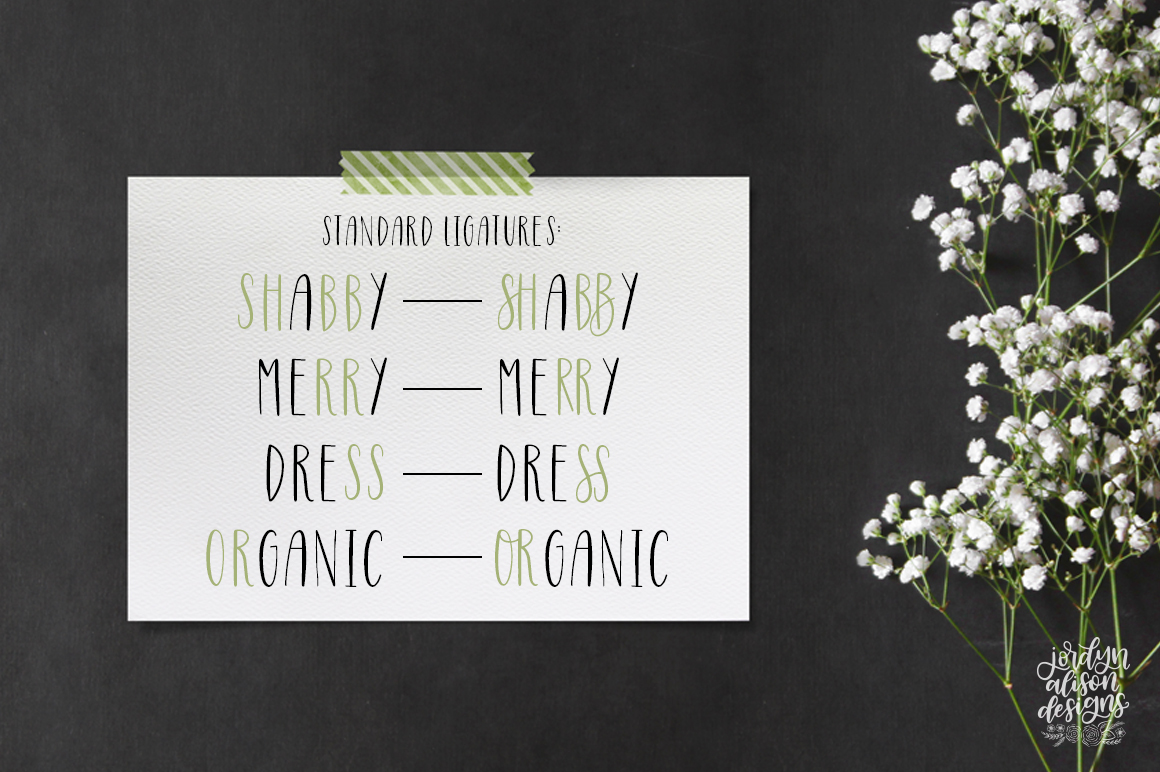 Four Hand Lettered Fonts Bundle by Jordyn Alison Designs example image 6