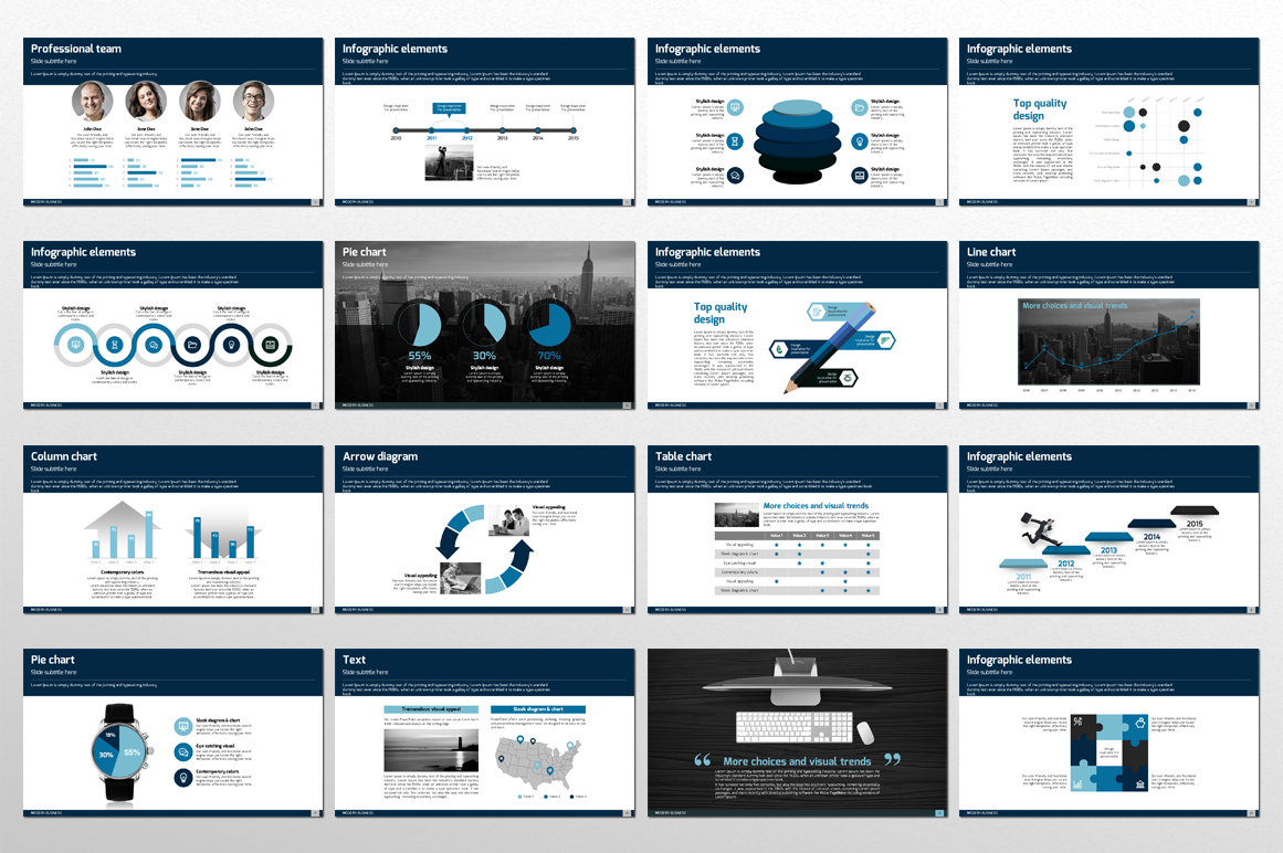Modern Business PPT Template example image 3