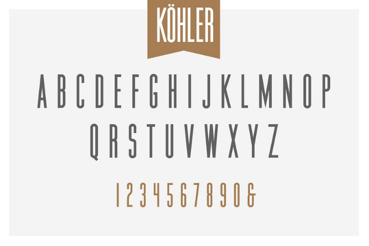 Köhler | Ultra Condensed Family - Font Family example image 2