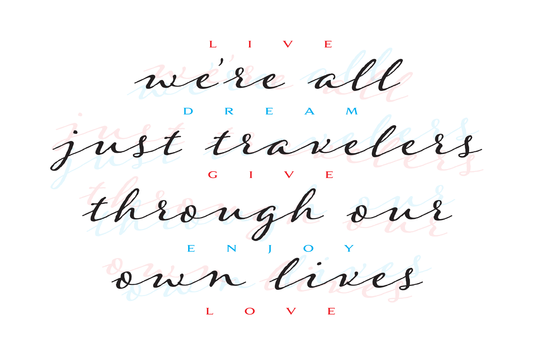 Were all just travelers quote design example image 3
