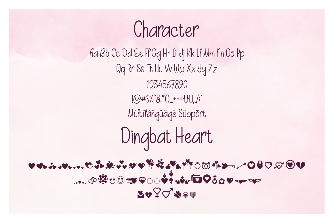 Beauty and Love - Font Duo and Extra Heart Dingbat example image 11