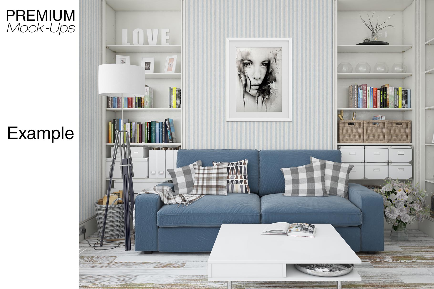 Pillows & Frames Mockup Set example image 17