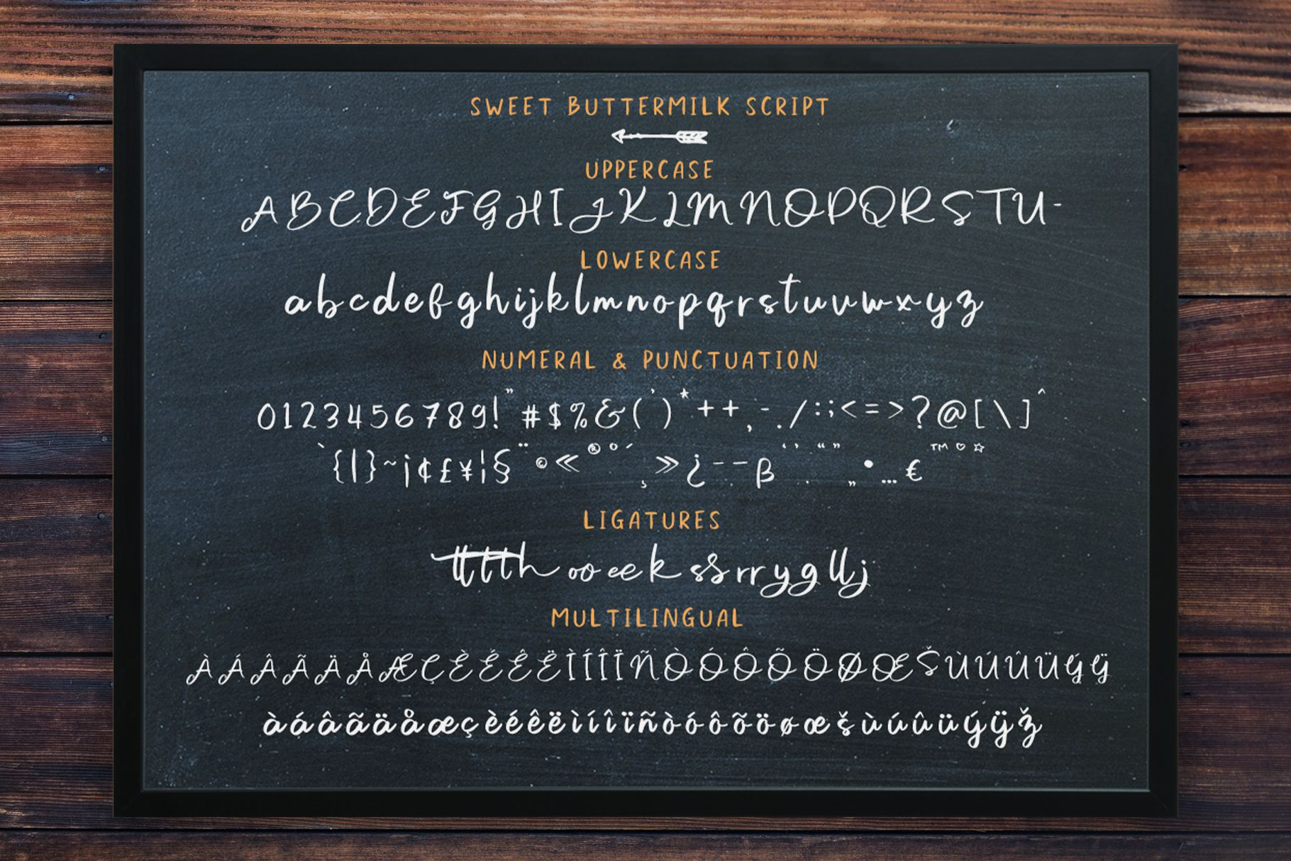 Sweet Buttermilk - Font Duo with Bonus example image 3