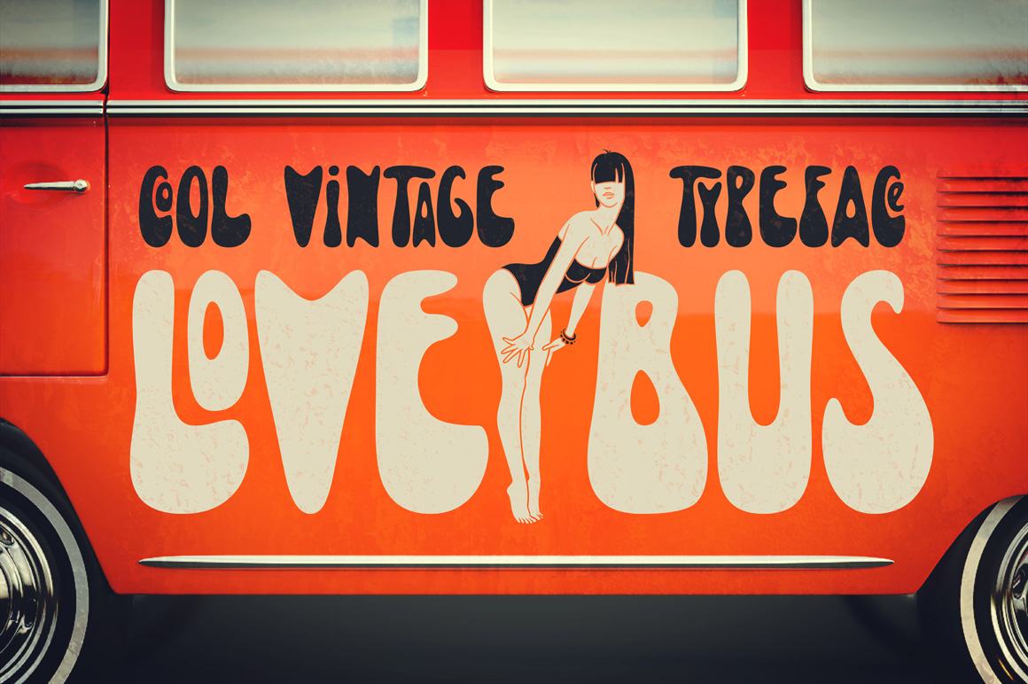Lovebus font + graphics example image 1