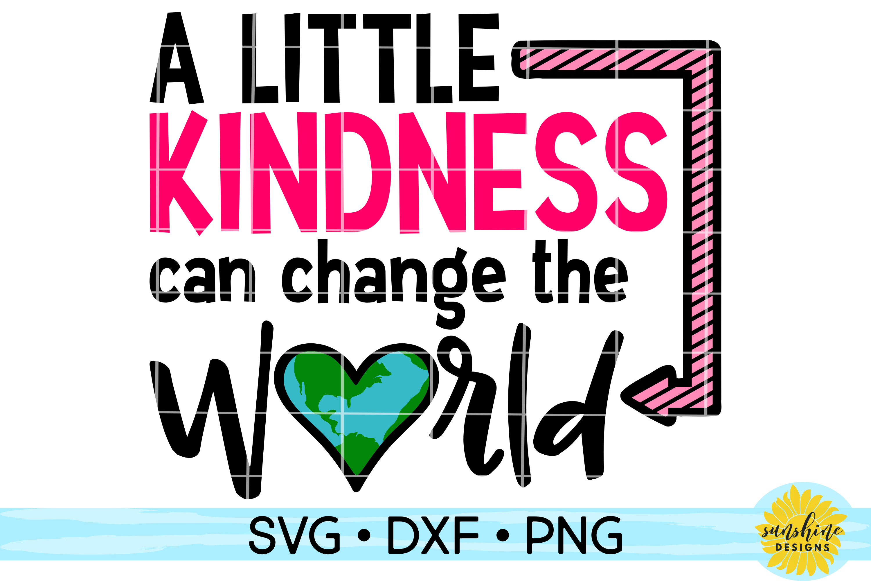 KINDNESS CAN CHANGE THE WORLD | ANTI-BULLYING | SVG DXF PNG example image 1
