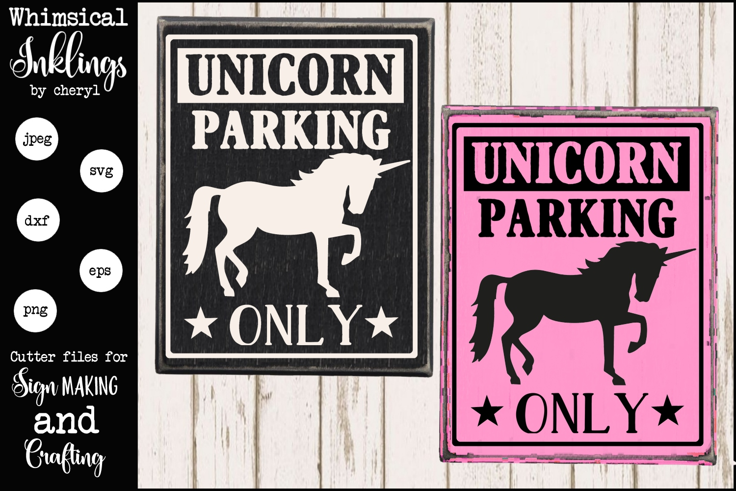 Unicorn Parking Only SVG example image 1