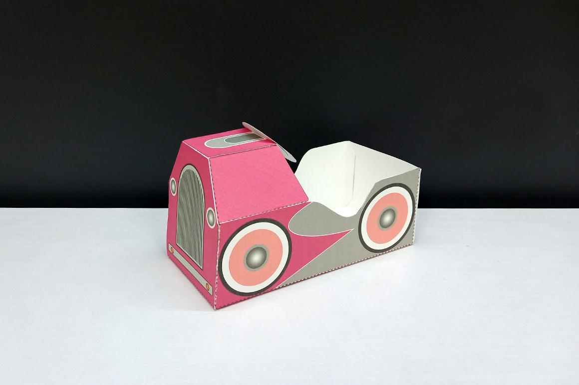DIY Pedal car favor - 3d papercraft example image 3