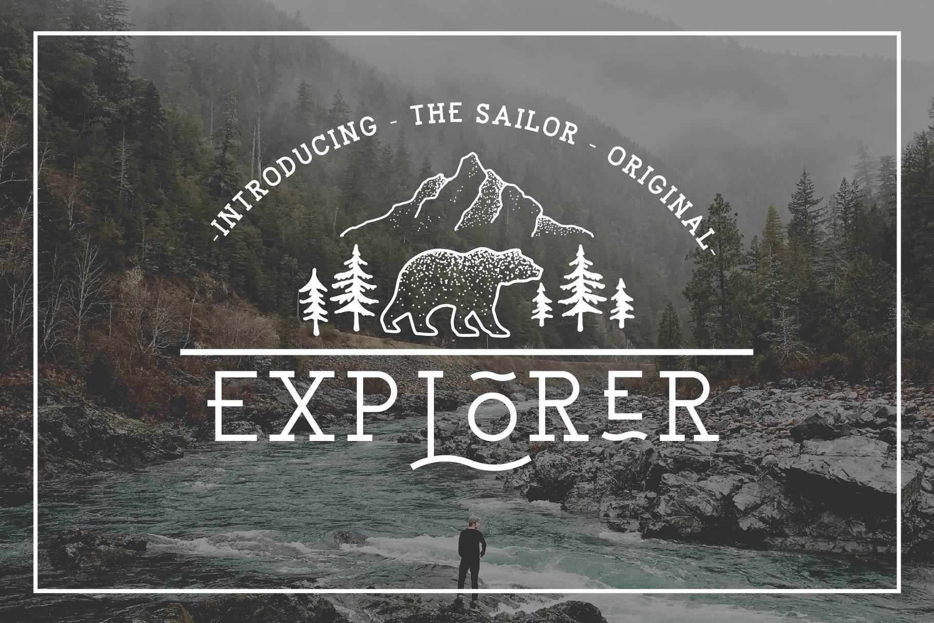 EXPLORER - Sailor Original Typeface example image 10