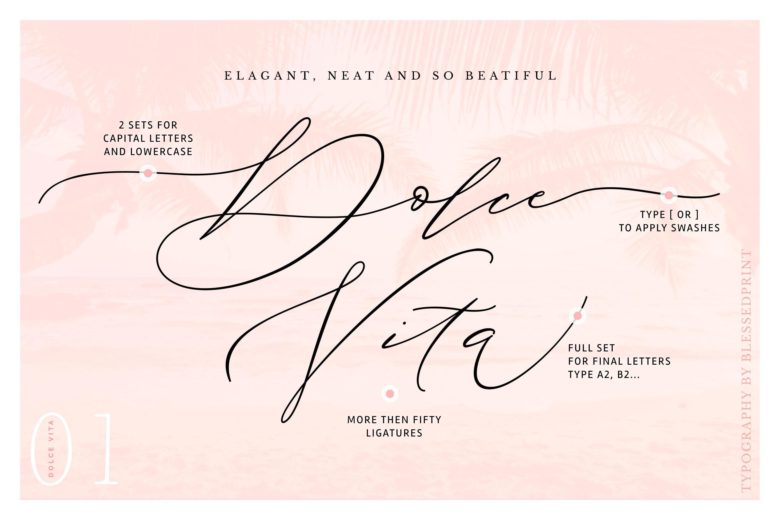 DolceVita - luxury font family with 50 ligatures example image 3