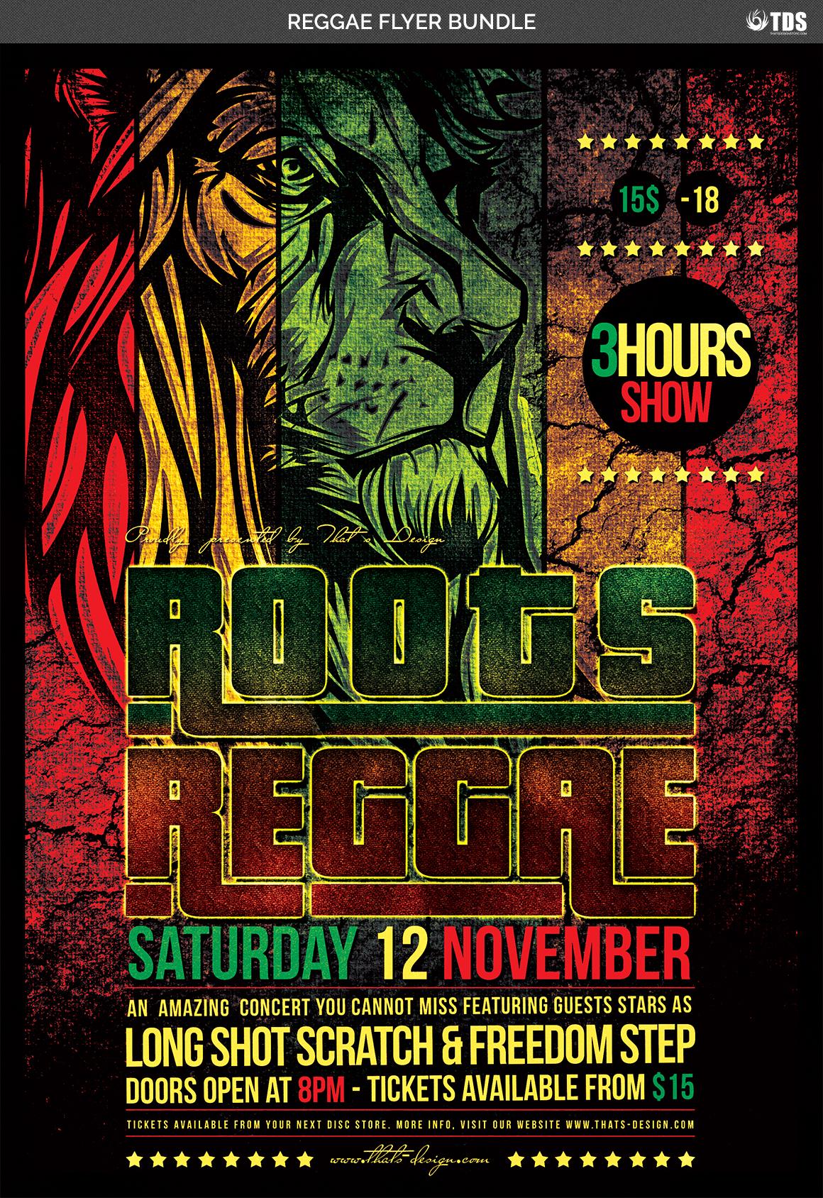 Reggae Flyer Bundle example image 8