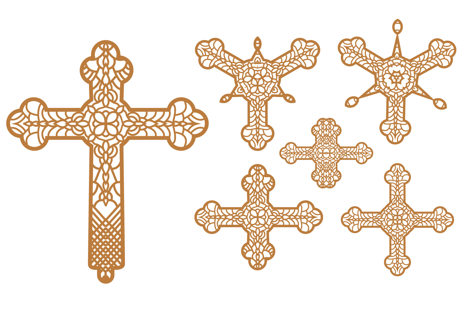6 cross SVG and Religious Signs AI, EPS, PNG example image 2