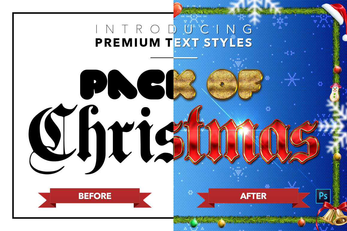 Christmas Pack #2 - 20 Text Styles example image 22