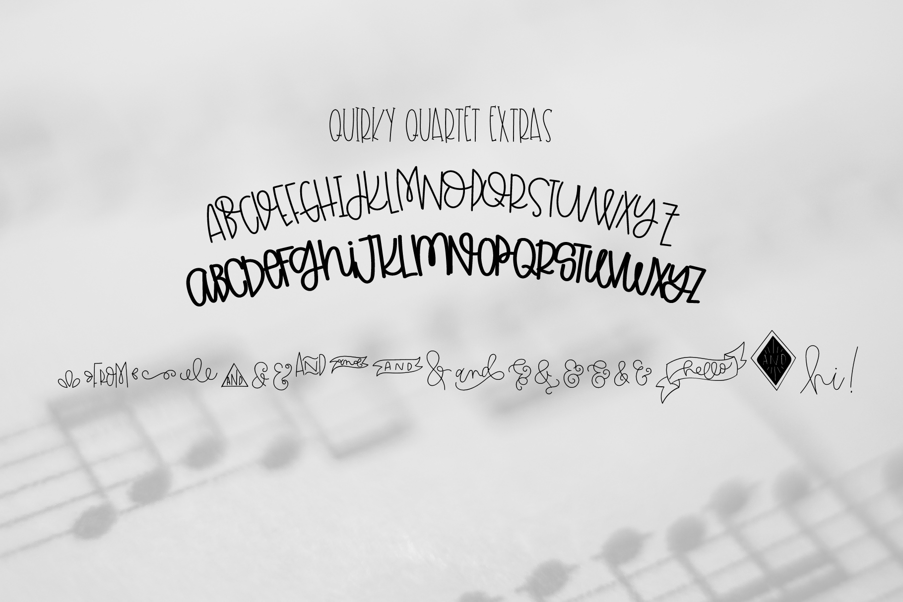 Quirky Quartet Font Collection example image 2