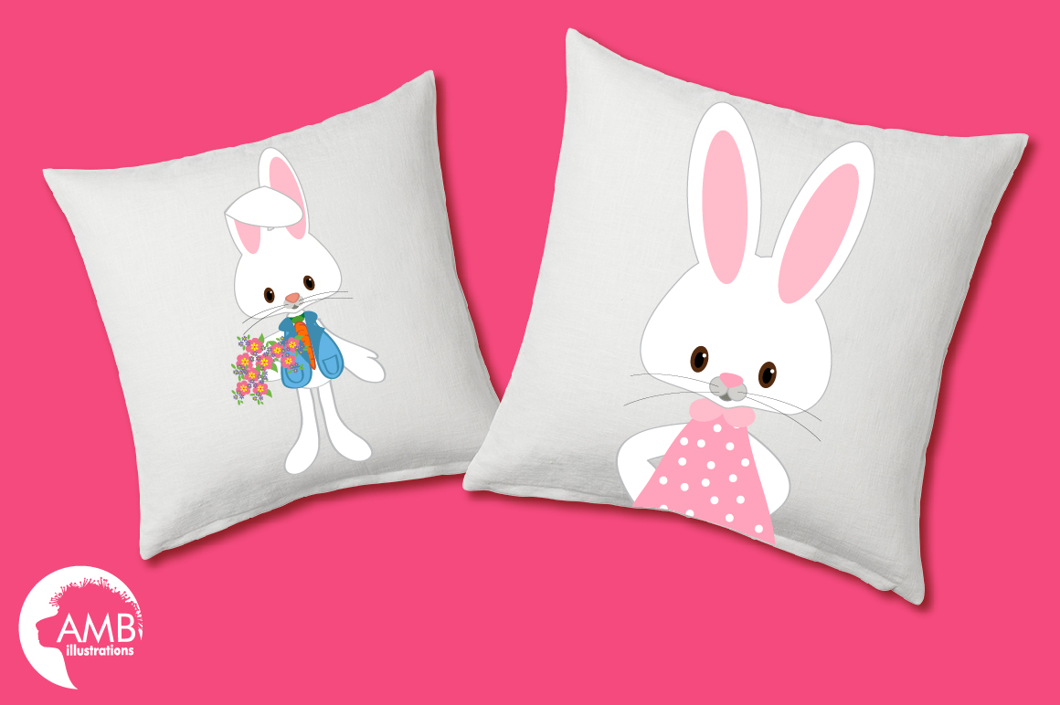 Easter Bunnies clipart, graphics, illustrations AMB-370 example image 4