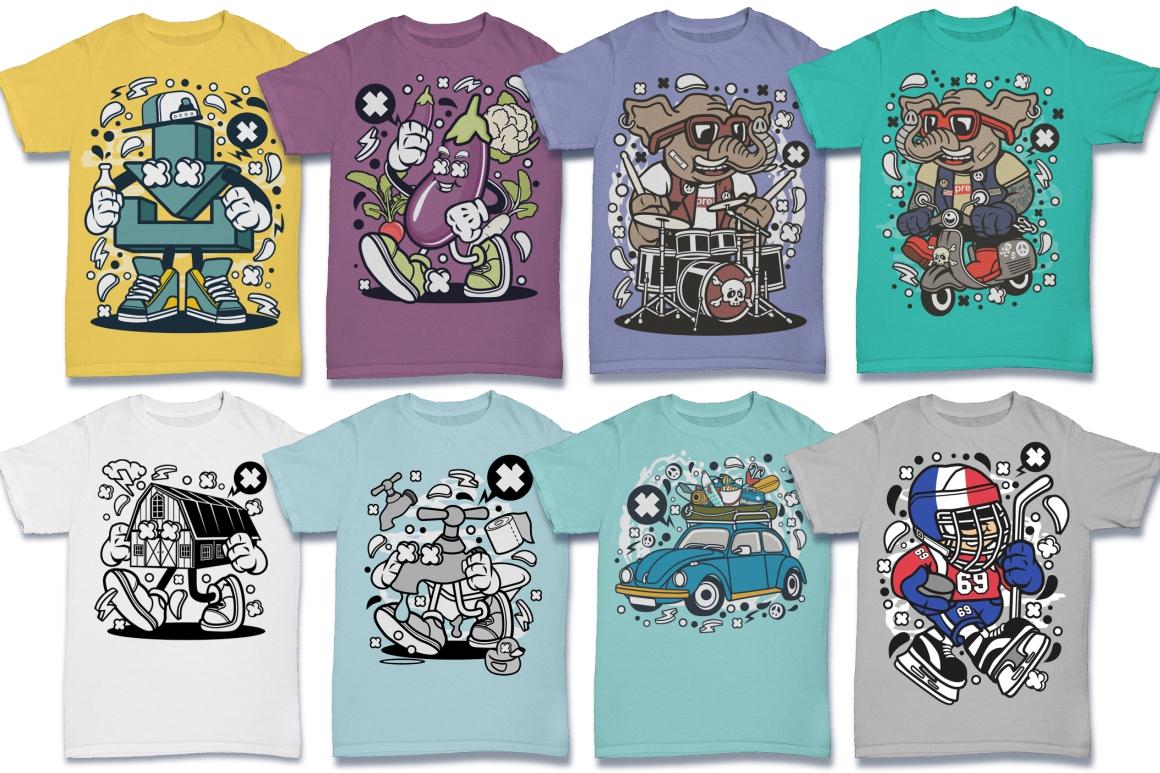 Cartoon Vector #6 Tshirt Design Bundle example image 10