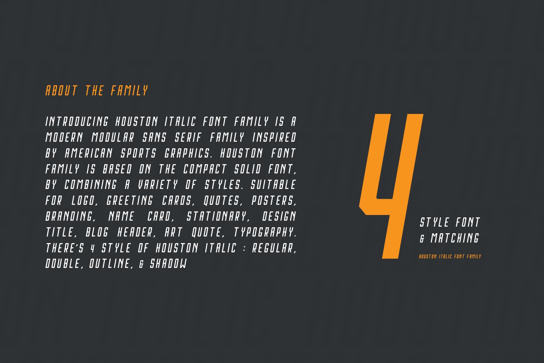 Houston Italic Font Family example image 2