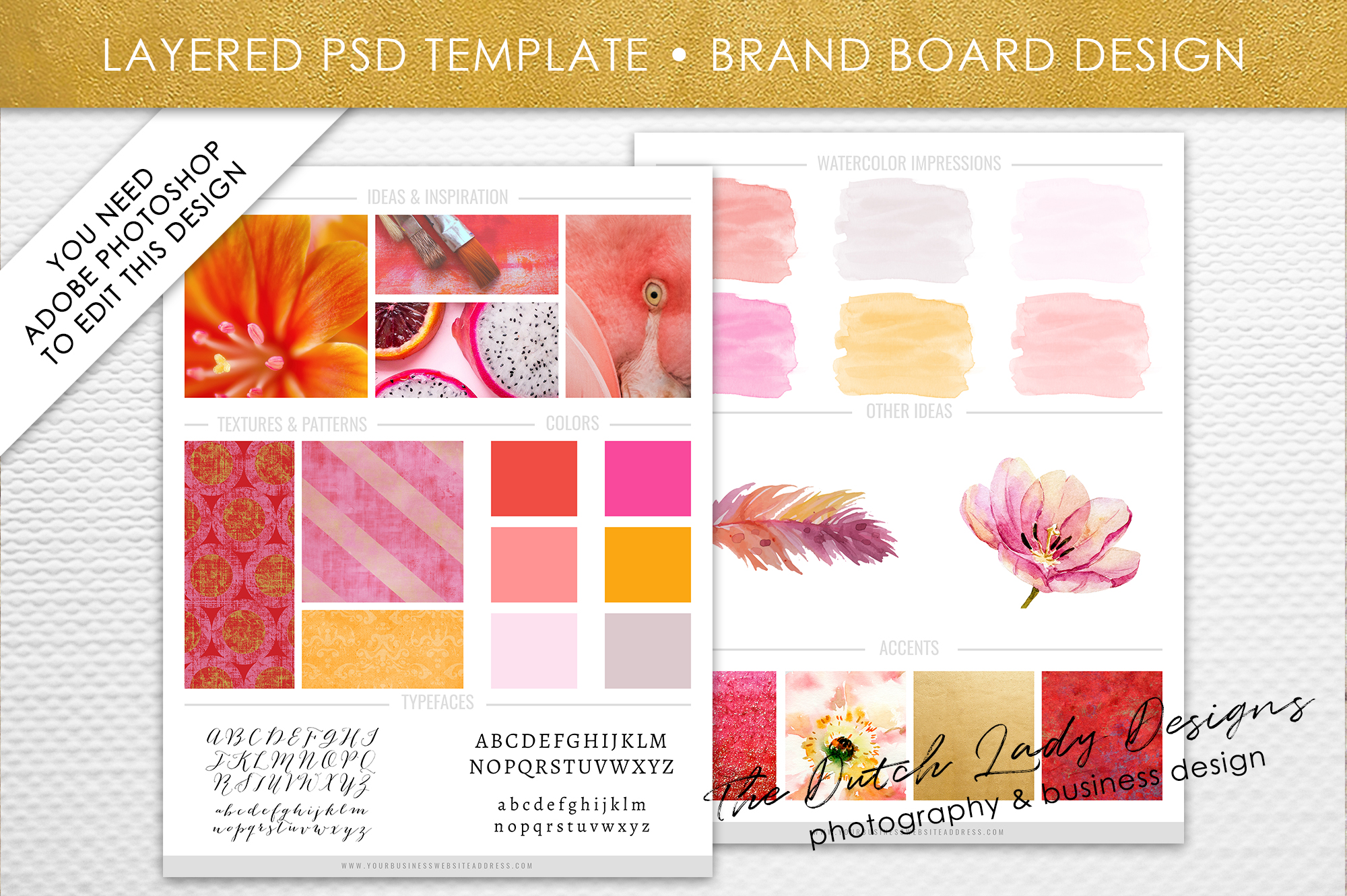 psd brand design board template design 3