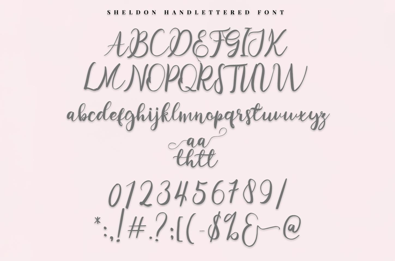 sheldon - script font example image 5
