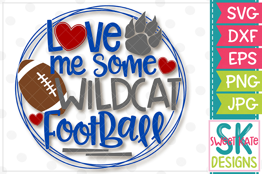 Love Me Some Wildcat Football SVG DXF EPS PNG JPG example image 2