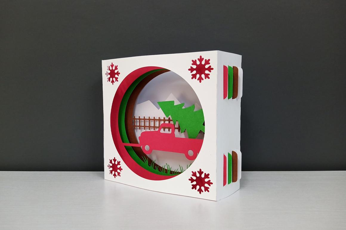 DIY Christmas Card - 3d papercraft example image 8