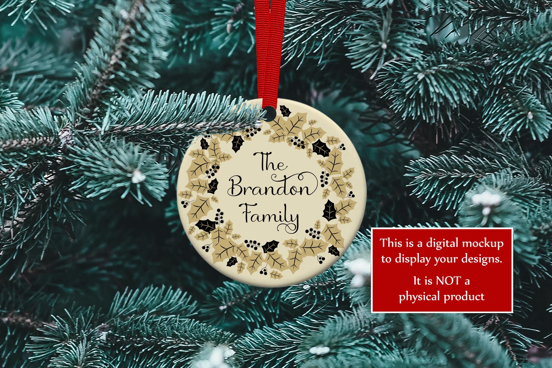 Christmas Ornament Mockup, PSD Smart Object & JPG example image 4