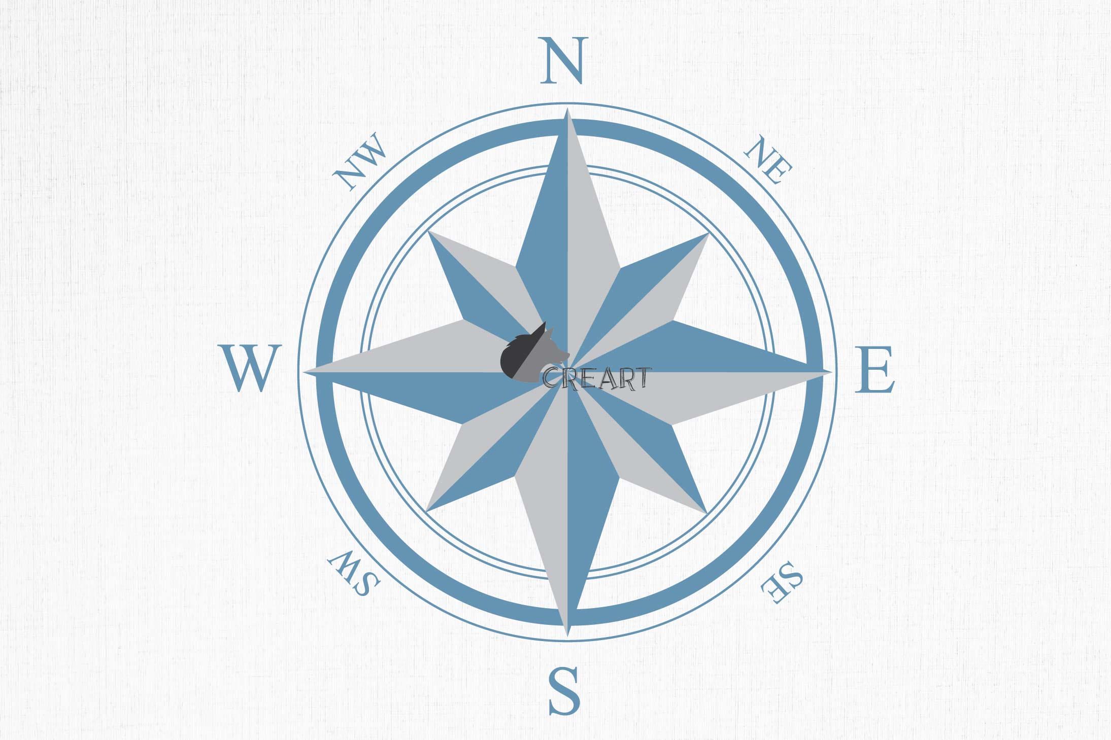 Compass rose navigation silhouette. Travellers decoration. example image 4
