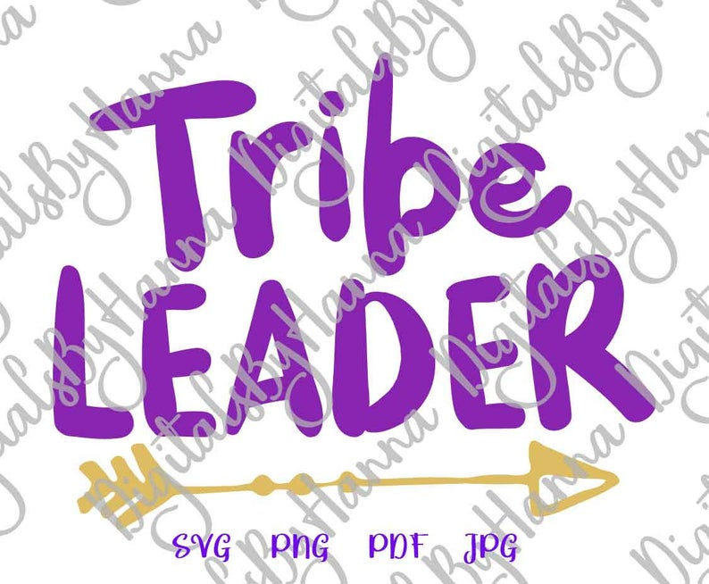 Tribe Leader Family Sign Parenting Print & Cut PNG SVG File example image 4