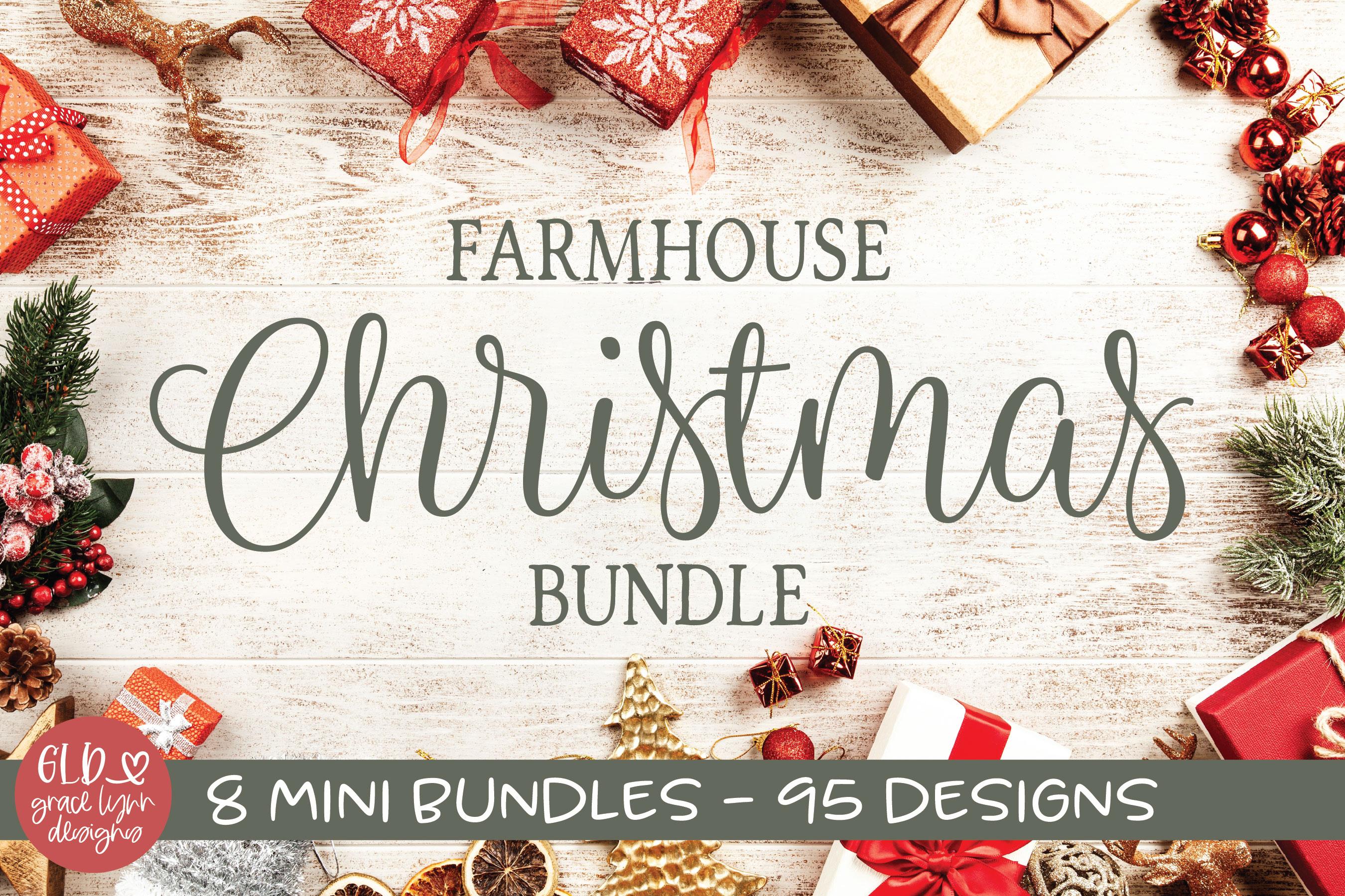 Farmhouse Christmas Bundle - 95 Christmas Designs example image 1