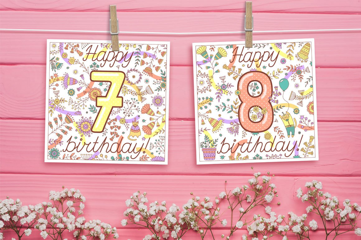 Birthday greeting cards collection example image 2