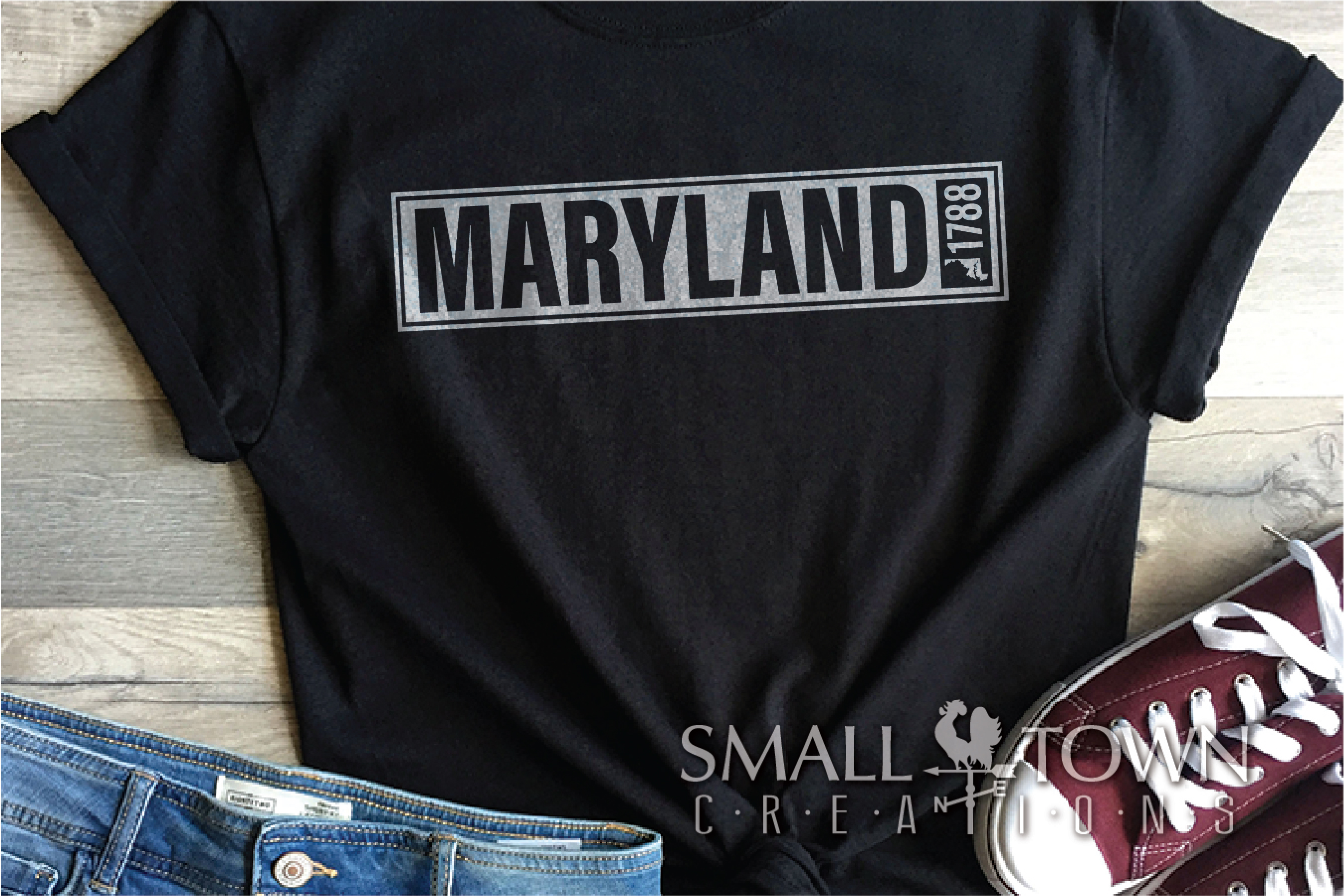 Maryland, Drive Carefully, Logo, PRINT, CUT & DESIG example image 6