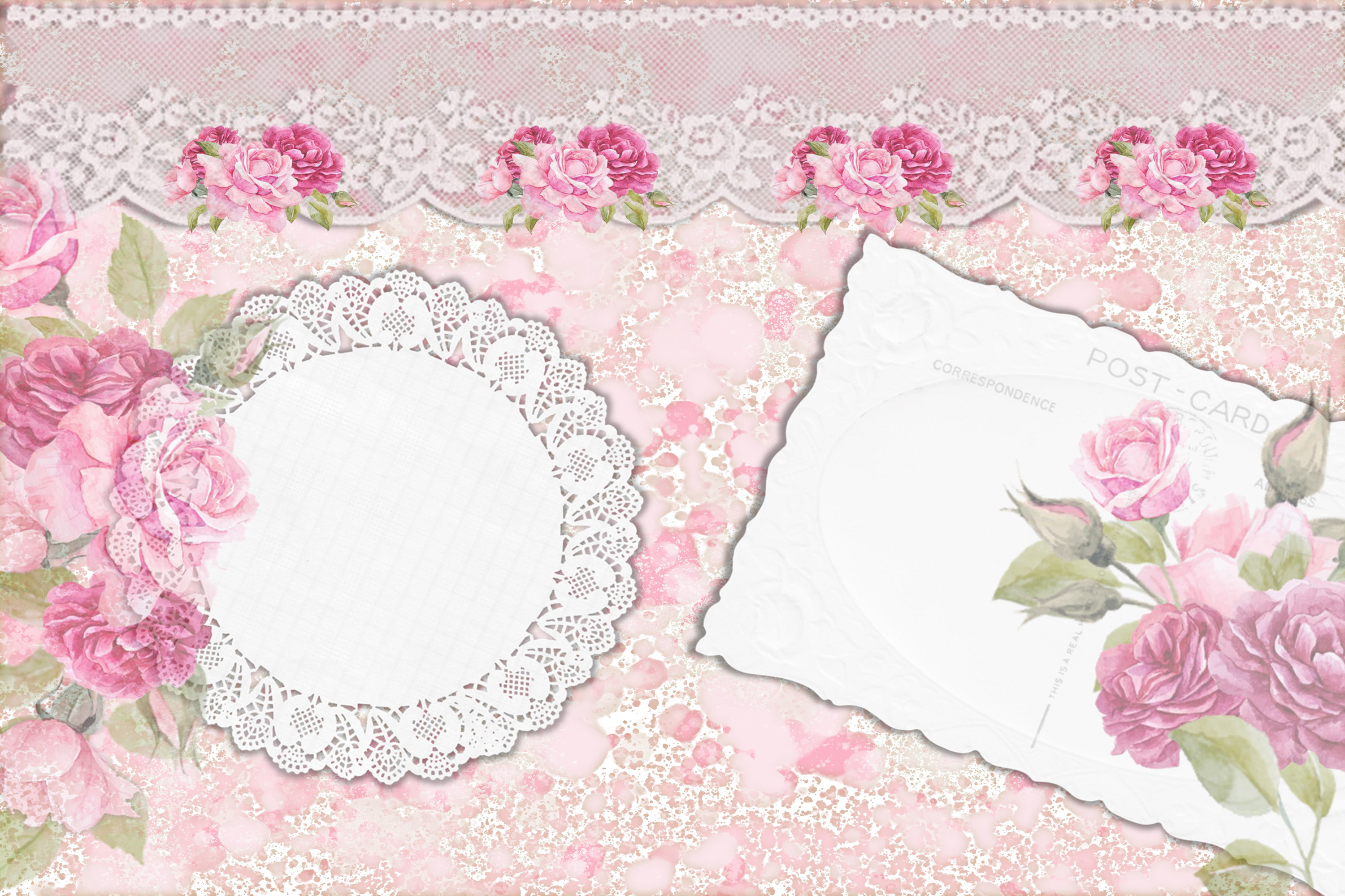 Printable Journaling Kit Romance and lace JPEG PDF PNG example image 2