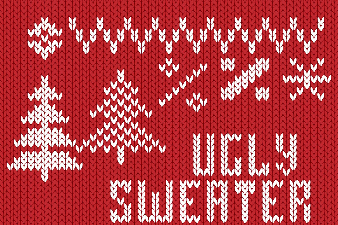 Christmas Knitted Font Ol example image 5