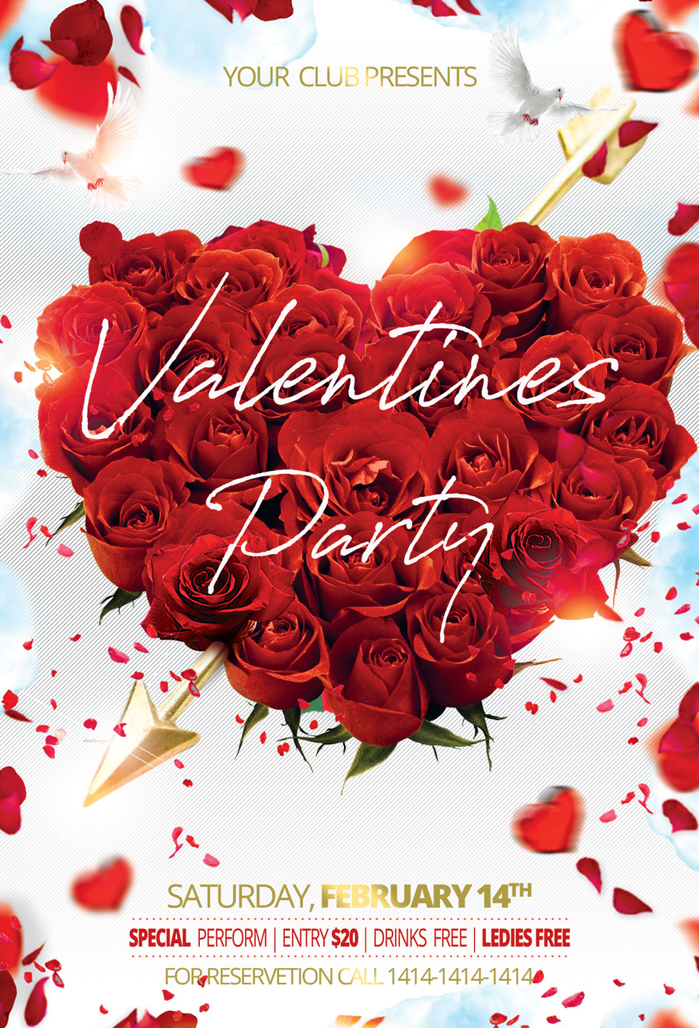 Valentine Day Party Flyer example image 3