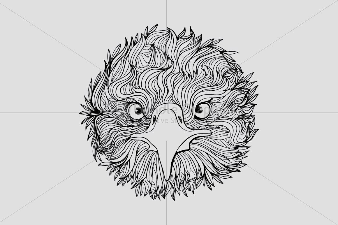 Cute Eagle Bird - Front Profile example image 2