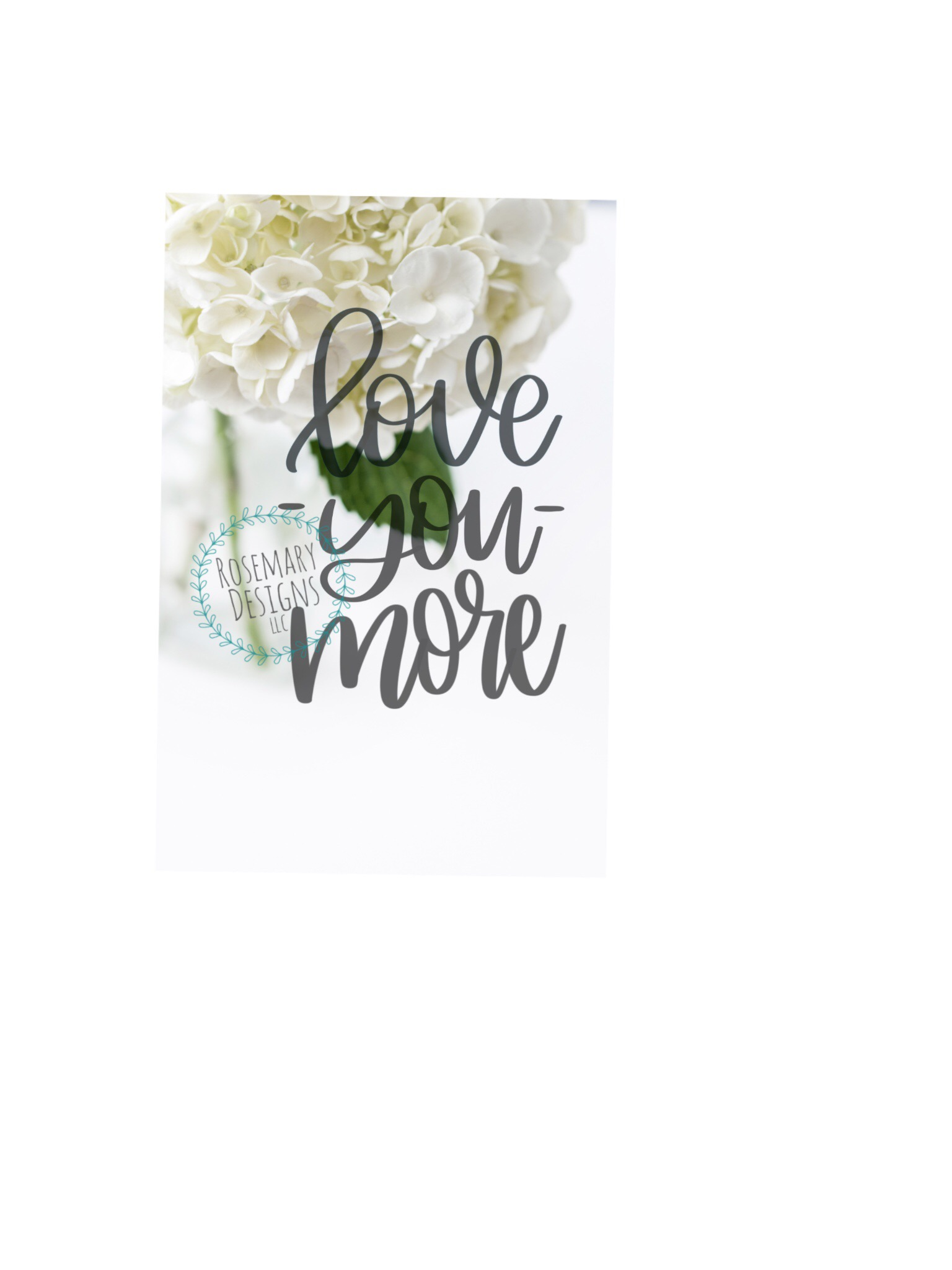 Love You More - Hand lettered SVG example image 1