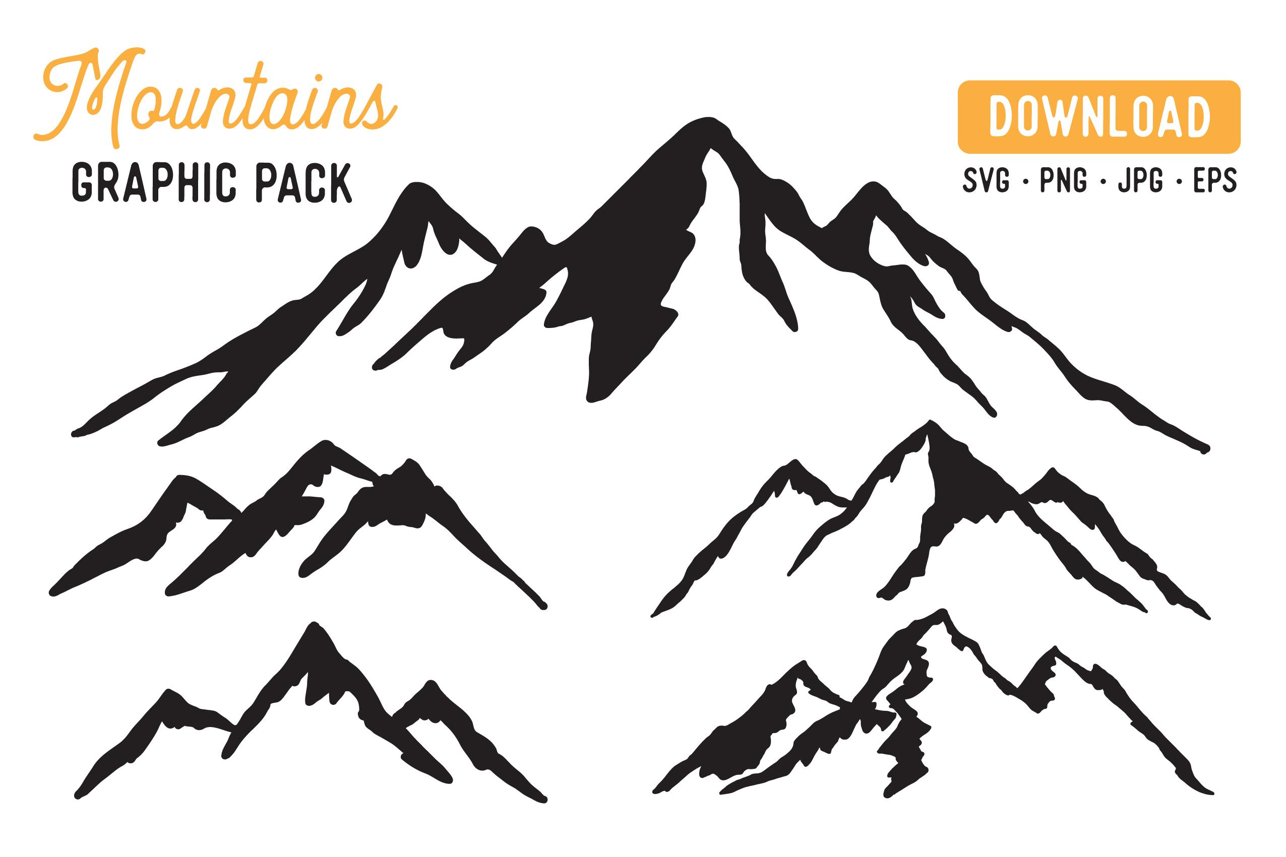 Mountain Vector SVG Bundle - Mountain Graphic Bundle example image 1