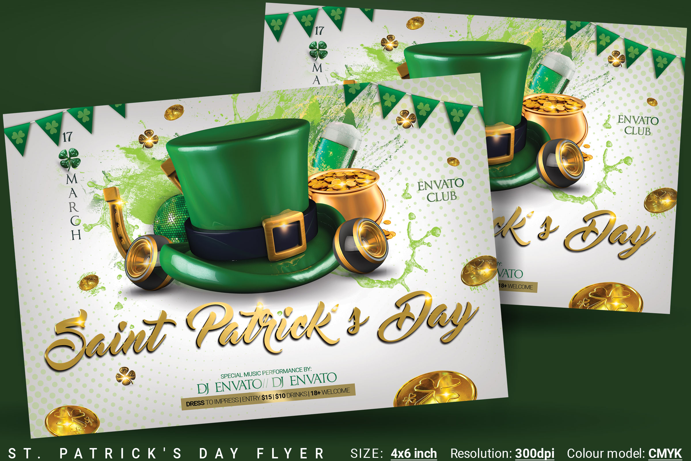 St. Patrick's Day Flyer And Poster example image 1
